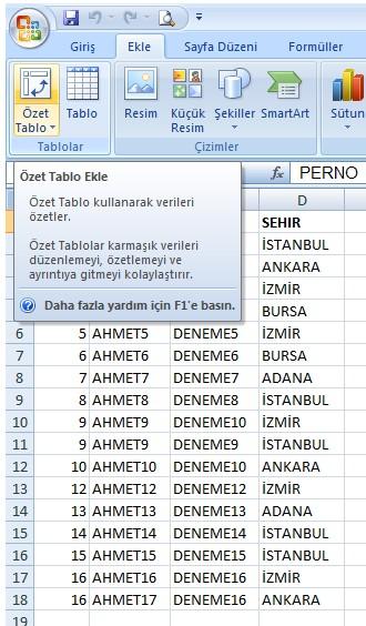 Excel Mükererr Kayıt 1